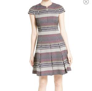 Ted Baker Metallic Jacquard Skater Dress